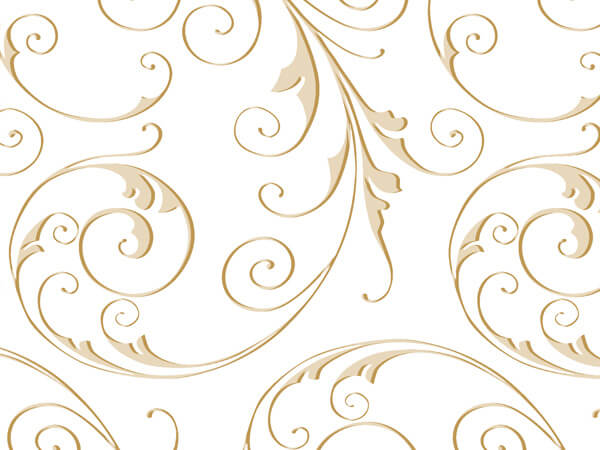 "Jewel Swirl Gold Cello Sheets, 20x30"", 100 Pack"