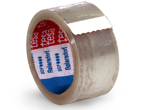 "2""x55 yds Tesa Clear 3"" Core Single Roll - Shipping Tape"