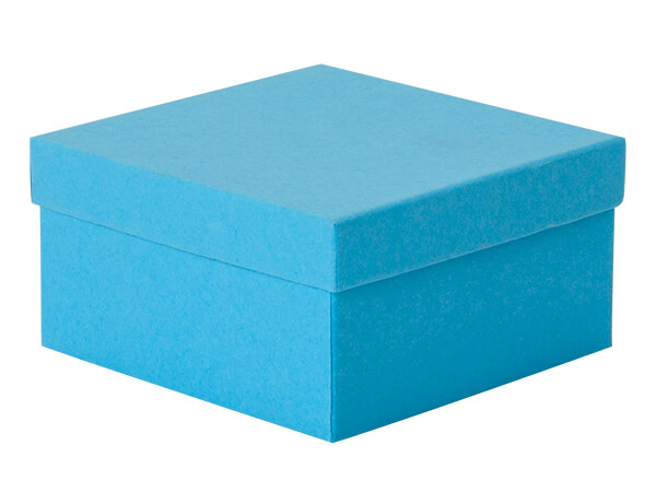 """Blue Jazz Jewelry Gift Boxes, 3.5x3.5x2"""", 100 Pack, Cotton Fill"""