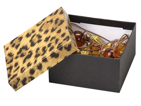 3.5x3.5x2 Leopard Jewelry Boxes