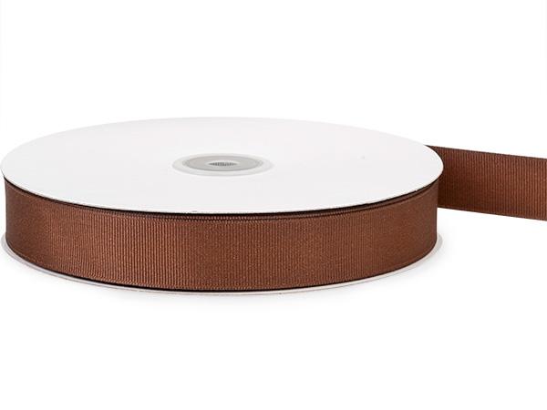 "Dark Chocolate Grosgrain Ribbon 7/8""x50 yds 100% Polyester"