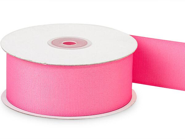 "Hot Pink Grosgrain Ribbon 1-1/2""x25 yds 100% Polyester"