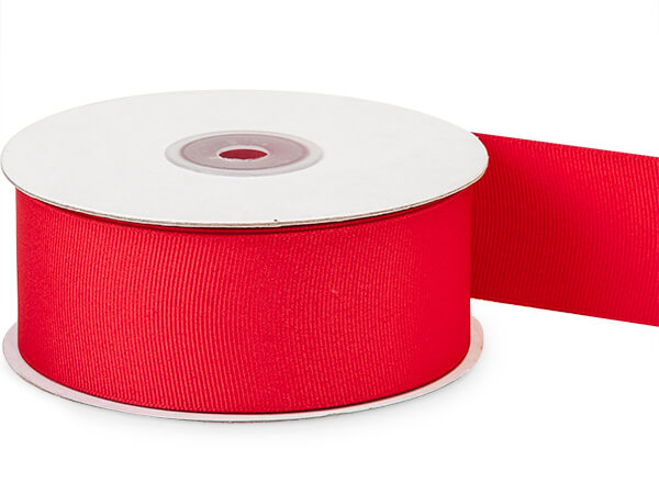 "Red Grosgrain Ribbon, 1-1/2""x25 yards"