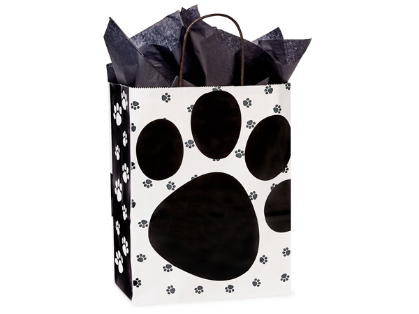 "Pooch's Paws Paper Shopping Bags Cub 8.25x4.75x10.5"", 25 Pack"