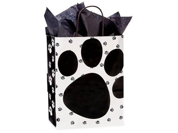 "Cub Pooch's Paws Shopping Bags 25 Pk 8-1/4x4-3/4x10-1/2"""