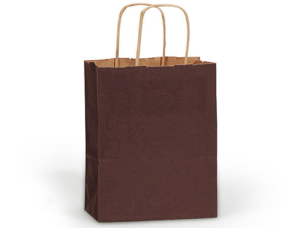 Cub Chocolate Recycled Kraft Bags 25 Pk 8x4-3/4x10-1/2""