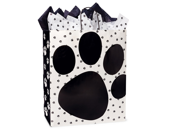 Queen Pooch's Paws Shopping Bags 25 Pk 16x6x19""