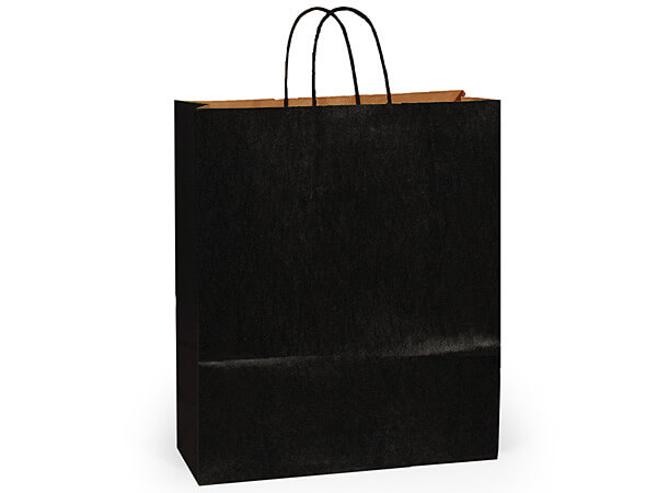 "Black Recycled Kraft Bags Queen 16x6x19.25"", 25 Pack"
