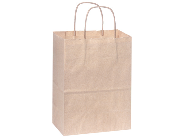 Rose Oatmeal Recycled Paper Bags 25 Pk 5-1/2x3-1/4x8-3/8""