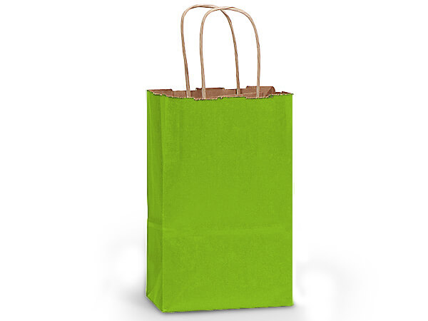 "Apple Green Recycled Kraft Bags Rose 5.5x3.25x8.375"", 25 Pack"