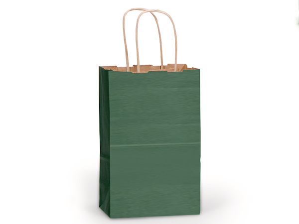 "Hunter Green Recycled Kraft Bags Rose 5.5x3.25x8.375"", 25 Pack"