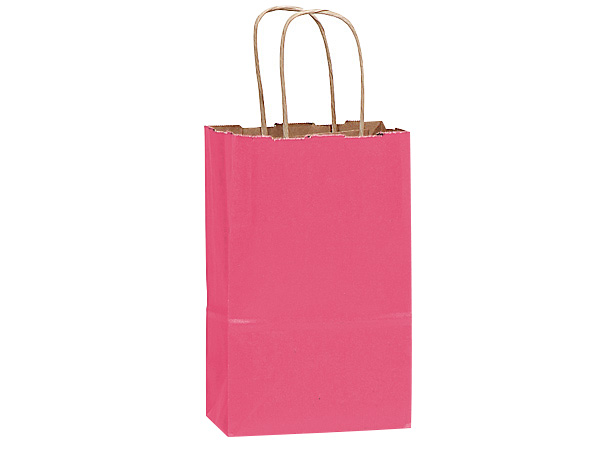 Rose Lipstick Pink Recycled Bags 25 Pk 5-1/2x3-1/4x8-3/8""