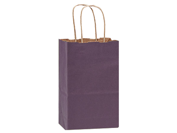 "Purple Recycled Kraft Bags Rose 5.5x3.25x8.375"", 25 Pack"