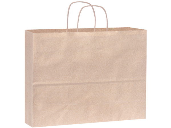 Vogue Oatmeal Recycled Paper Bags 25 Pk 16x6x12""