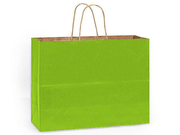 "Apple Green Recycled Kraft Bags Vogue 16x6x13"", 25 Pack"