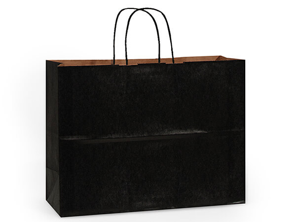 Vogue Black Recycled Kraft Bags 25 Pk 16x6x13""