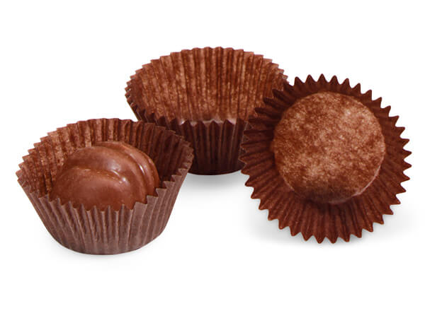 Glassine Chocolate Candy Cups, 1-1/8x13/16""