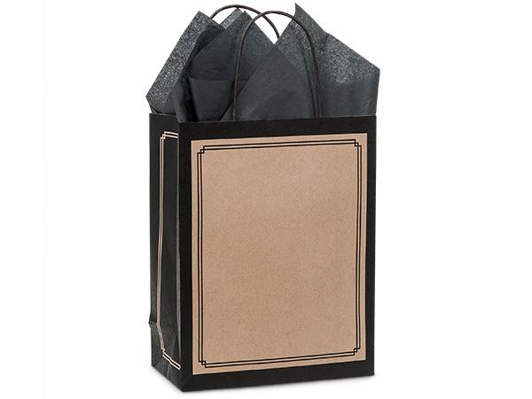 "Cub Black & Kraft Duets Bags 25 Pk 8-1/4x4-3/4x10-1/2"""