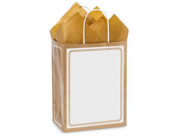 """Cub Gold & White Duets Bags 25 Pk 8-1/4x4-3/4x10-1/2"""""""