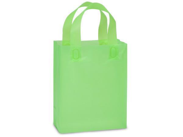 "Key Lime Plastic Gift Bags, Cub 8x4x10"", 25 Pack, 3 mil"
