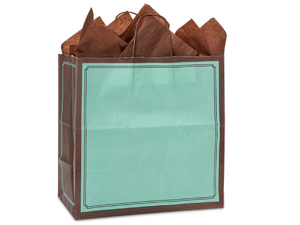 Filly Aqua & Chocolate Duets Bags 25 Pk 13x7x13""