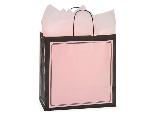 """Filly Pink & Black Duets Bags 25 Pk 13x7x13"""""""