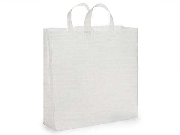 "Jumbo Clear Plastic Bags 25 3 mil Shopping Bags 18x7x18"""