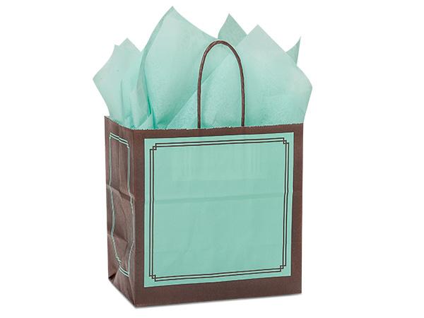 "Junior Aqua & Chocolate Duets Bags 25 Pk 8x5x8"""