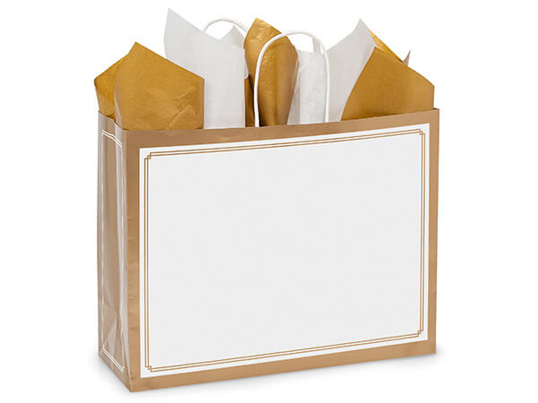 Vogue Gold & White Duets Bags 25 Pk 16x6x12-1/2""