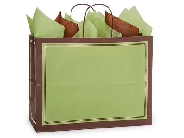 """Vogue Pistachio & Chocolate Duets Bags 25 Pk 16x6x12-1/2"""""""
