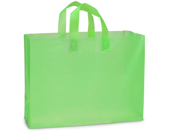 "Key Lime Plastic Gift Bags, Vogue 16x5x12"", 25 Pack, 3 mil"