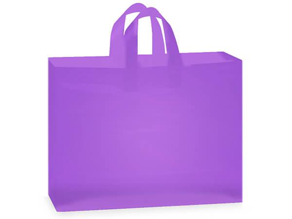 """Lavender Mist Plastic Gift Bags, Vogue 16x5x12"""", 25 Pack"""