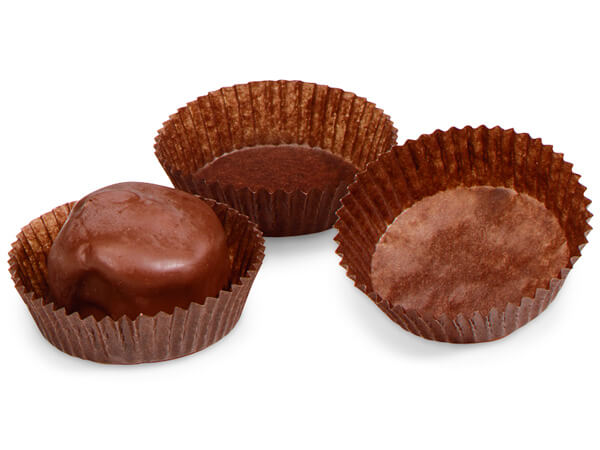 """1-3/4x5/8""""  Chocolate Candy Cups"""
