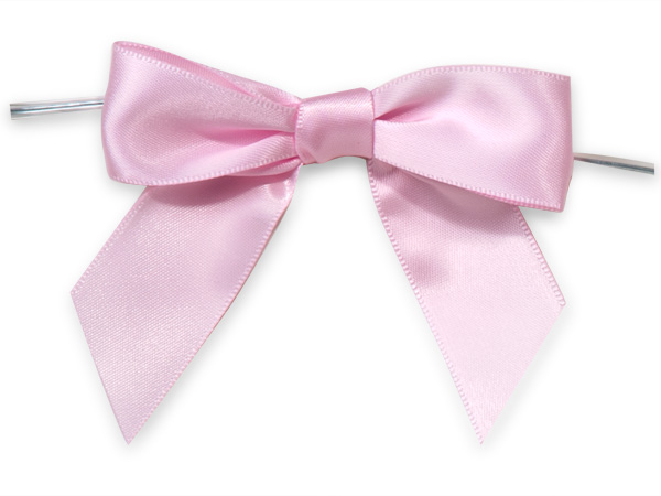 Pink Pre-tied Satin Bow