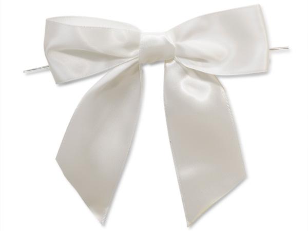 White Pre-Tied Bow