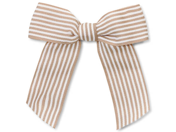 Kraft Striped Pre-tied Bows