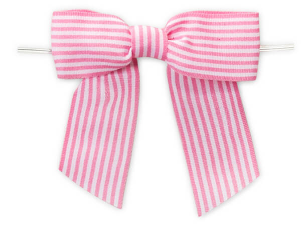 Pretty Pink Pre-Tied Bow