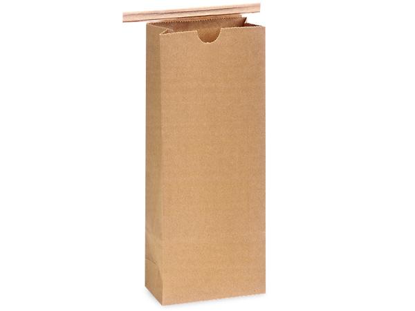"""1000 1/2 lb Kraft Coffee Bags 3-3/8""""x2-1/2""""x 7-3/4"""""""