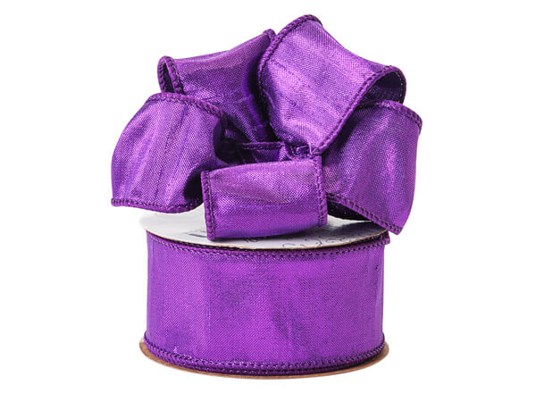 "Vibrant Purple Wired Ribbon, 1-1/2""x10 yards"