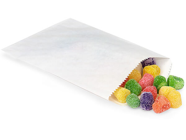 "White 1/4 lb Paper Candy Bags 4.75x6.75"", 1000 Pack"