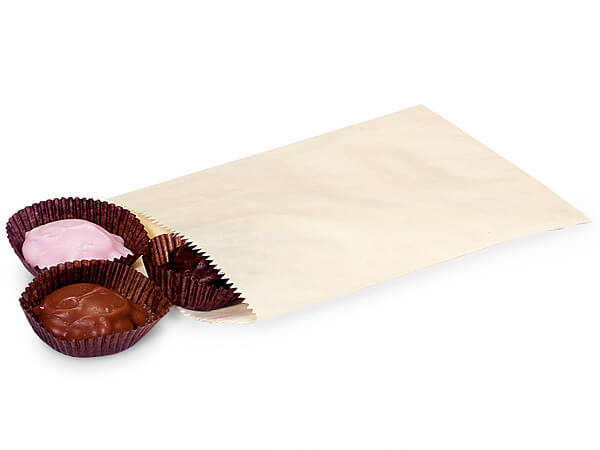 "Cream 1/4 lb Paper Candy Bags 4.75x6.75"", 1000 Pack"
