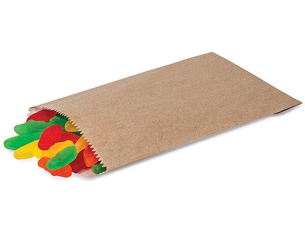 "100 1/4 lb Kraft Paper Candy Bags 4-3/4 x 6-3/4"""