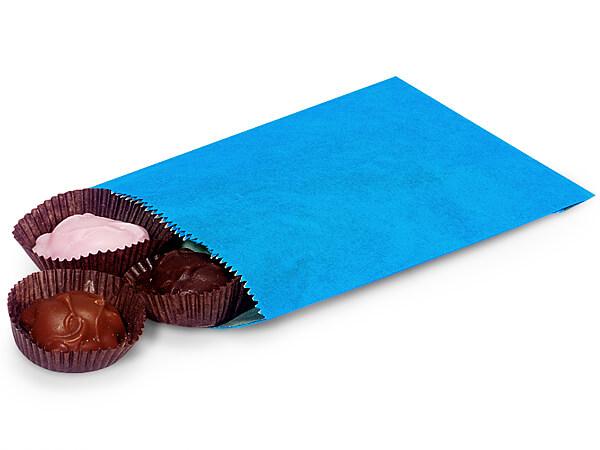"1/4 lb Sky Blue Paper Candy Bags 4.75 x 6.75"""