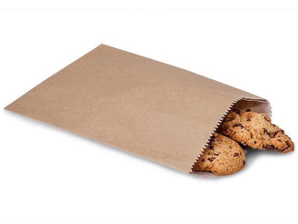 "Kraft 1/2lb Paper Candy Bags 5.75x7.5"", 100 Pack"