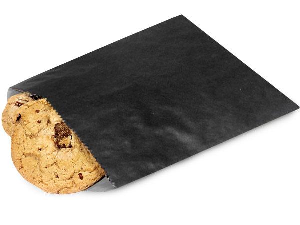 "1 lb Black Paper Candy Bags 6.75 x 9.25"""