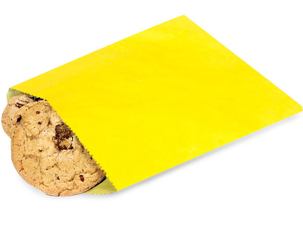 """1 lb Yellow Paper Candy Bags 6.75 x 9.25"""""""