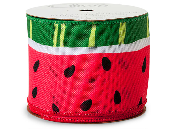 "Watermelon Wired Ribbon 2-1/2"" x 10 yards"