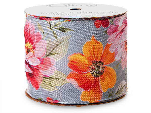 Floral Satin Ribbon