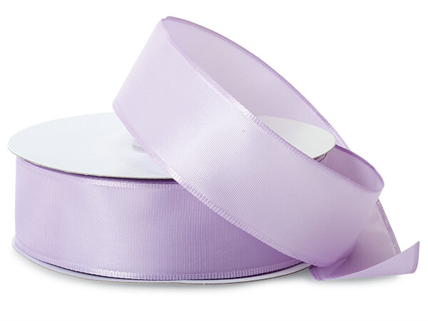 """Lavender Wired Fabric Florist Ribbon, 1-1/2""""x50 yards"""
