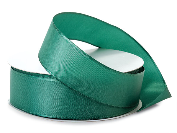 "Dark Green Wired Fabric Florist Ribbon, 1-1/2""x50 yards"